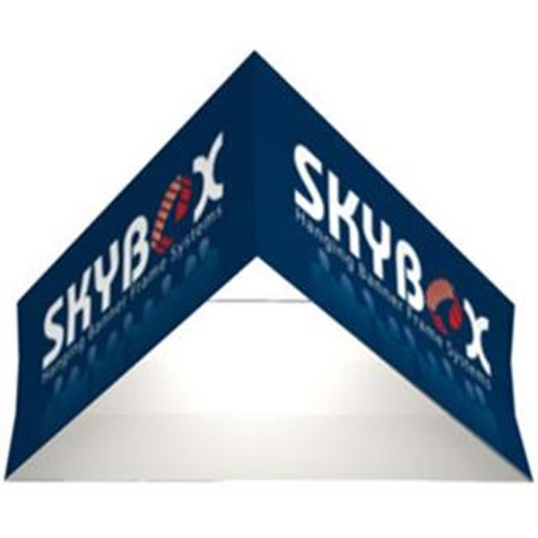 8ft Triangle Hanging Banner 36 in- Inside/Outside Graphic