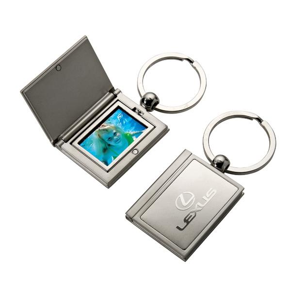 Rectangular keychain with photo holder