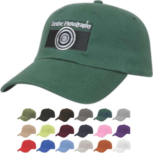 Value Series - Six Panel Unstructured Low Profile Cap With Two Piece Velcro Photo