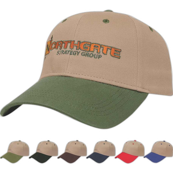 Value Series - Low Profile Six Panel Structured Cap With Contrasting Visor Photo