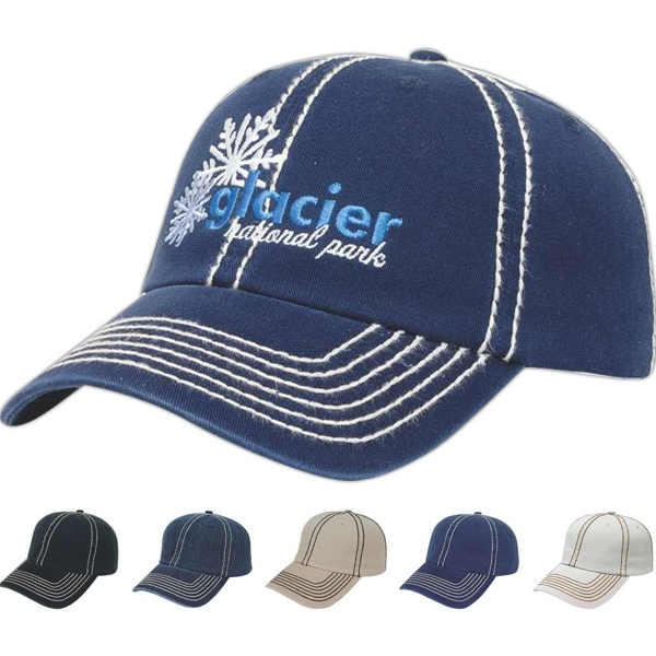 Classic Series - Thick Stitch Accent Cap. Unstructured Photo
