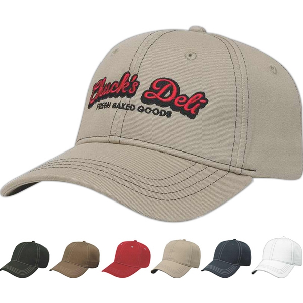 Classic Series - Medium Profile Six Panel Structured Contrasting Stitch Cap Photo