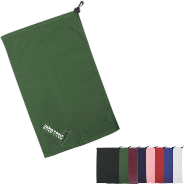 Golf And Resort Collection - Silkscreen - Flat Cotton Velour Golf Towel Photo