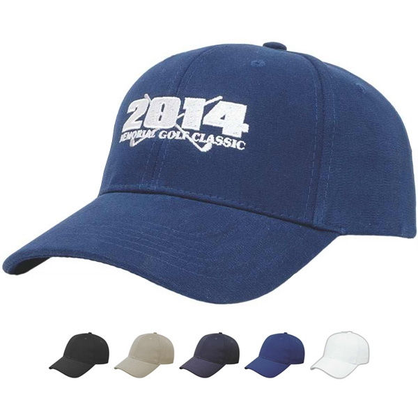 Medium Profile Six Panel Structured Cap. Moisture Wicking. Uv Protection Photo