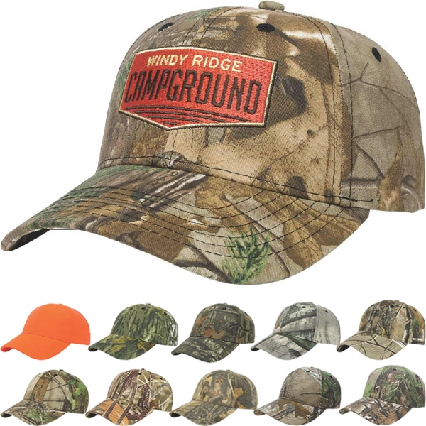 Camouflage Series - Medium Profile Six Panel Camouflage Structured Twill Cap With Two Piece Velcro Photo
