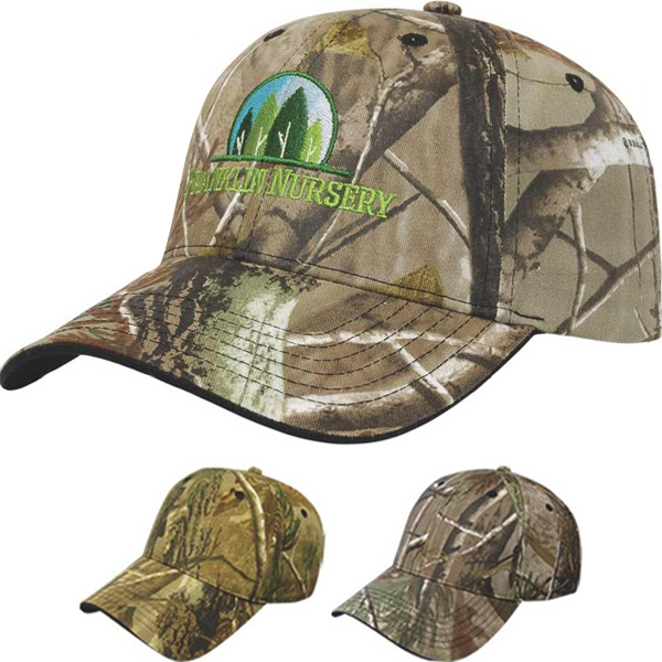 Camouflage Series - Medium Profile Six Panel Two Tone Camouflage Twill Cap Photo