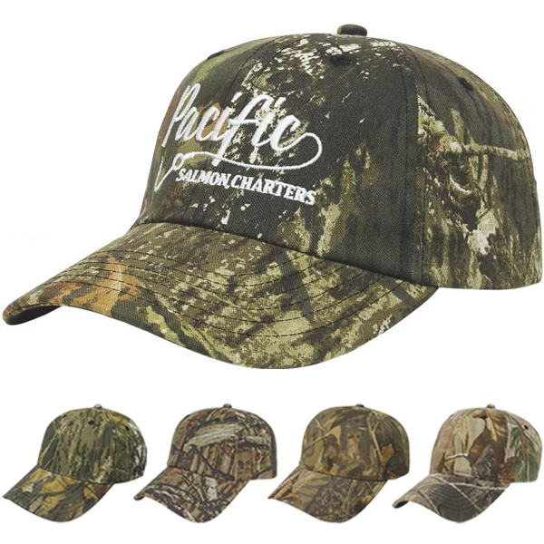 Camouflage Series - Medium Profile Six Panel Camouflage Unstructured Twill Cap With Two Piece Velcro Photo