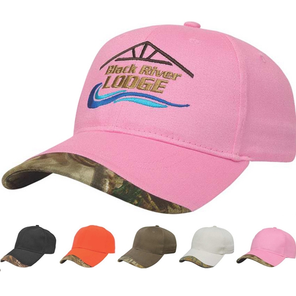 Camouflage Series - Medium Profile Six Panel Structured Visor Camouflage Accent Cap Photo