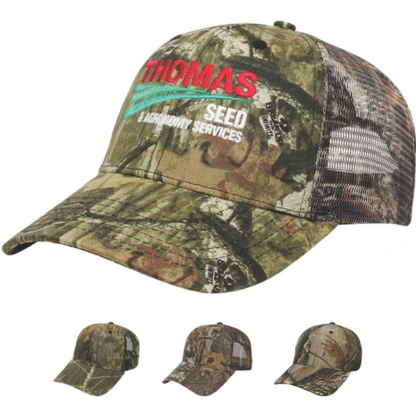 Camouflage Series - Camouflage Twill Fabric Cap With Matching Camo Mesh Back Photo