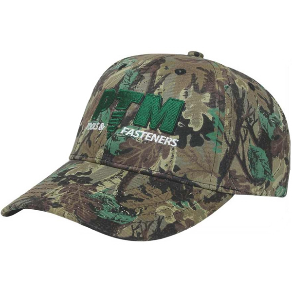 Camouflage Series - Medium Profile 6 Panel Structured Cap. Fabric Strap With Two Piece Velcro Photo