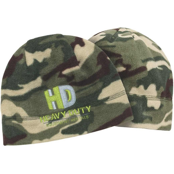 Camouflage Series - Field Camo Fleece Beanie. Poly Micro Fleece With Anti-pill Finish Photo