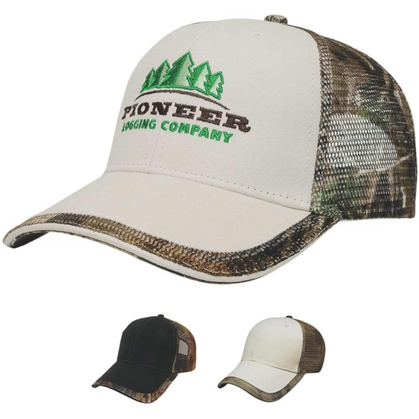 Camouflage Series - Camo Mesh Back Cap Made Of Brushed Cotton Twill Fabric Photo