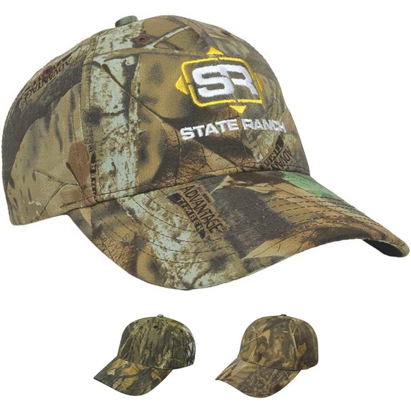 Camouflage Series - Medium Profile Six Panel Youth Camouflage Twill Structured Cap Photo