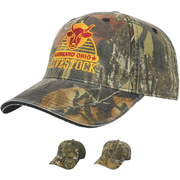 Camouflage Series - Medium Profile Six Panel Soft Structured Washed Camouflage Cap Photo