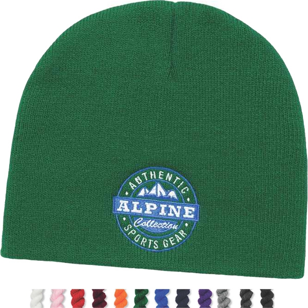 Usa Knit Series - Silkscreen - Pro Rib Knit Cap Without Cuff Photo