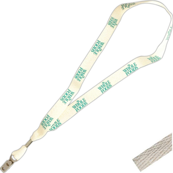 "Certified Organic Cotton Fabric Lanyard, 3/4"" Wide Photo"