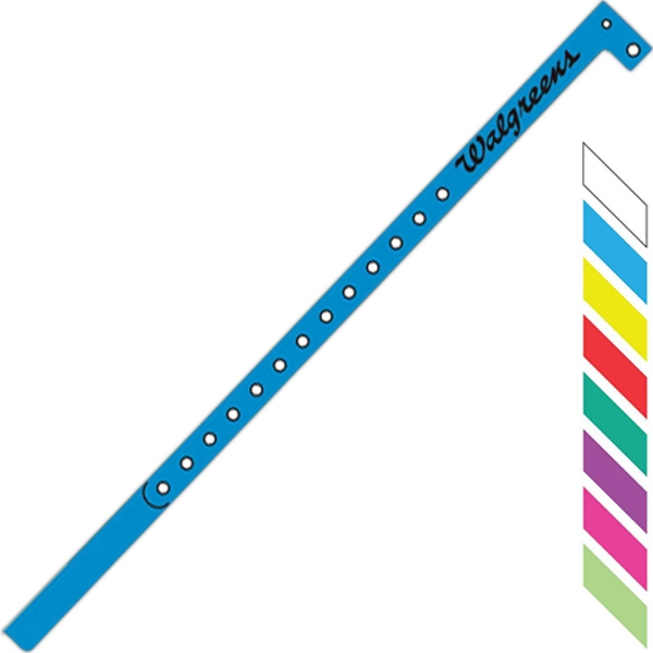 "Lightweight Super Plastic And Stretch Resistant Wristband, 1/2"" Wide Photo"