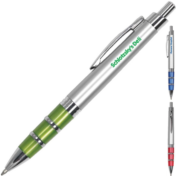 Roma - Ballpoint Pen With Matte Silver Barrel, Jewelry Trim And Chrome Accent Photo