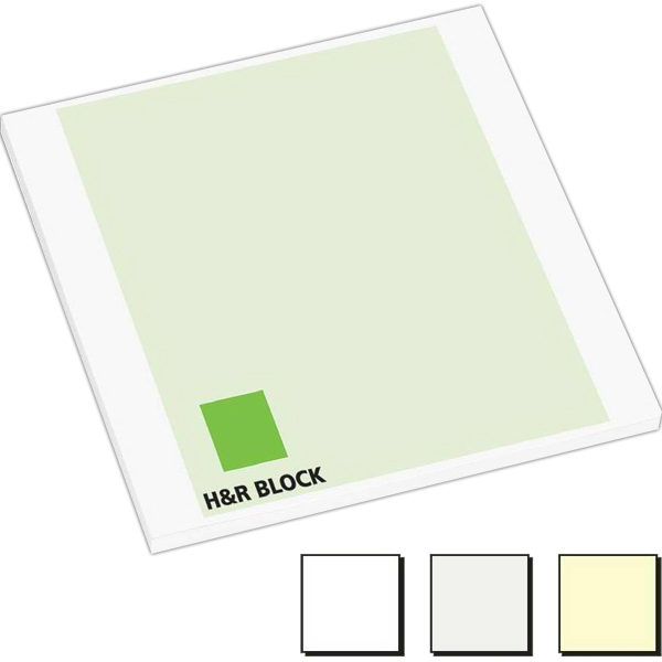 "50 Sheet Count - Earth Friendly 3"" X 3"" Adhesive Notes Available With 100% Recycled Paper Photo"