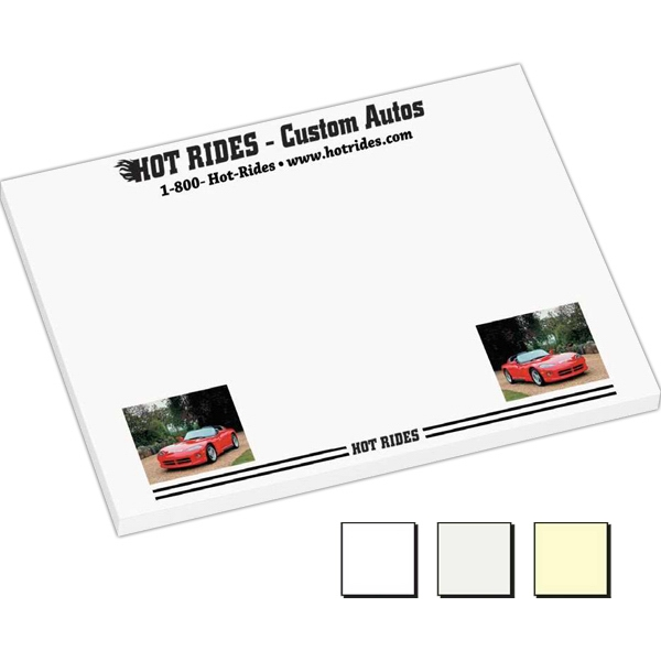 "50 Sheet Count - Earth Friendly 4"" X 3"" Adhesive Notes Available With 100% Recycled Paper Photo"