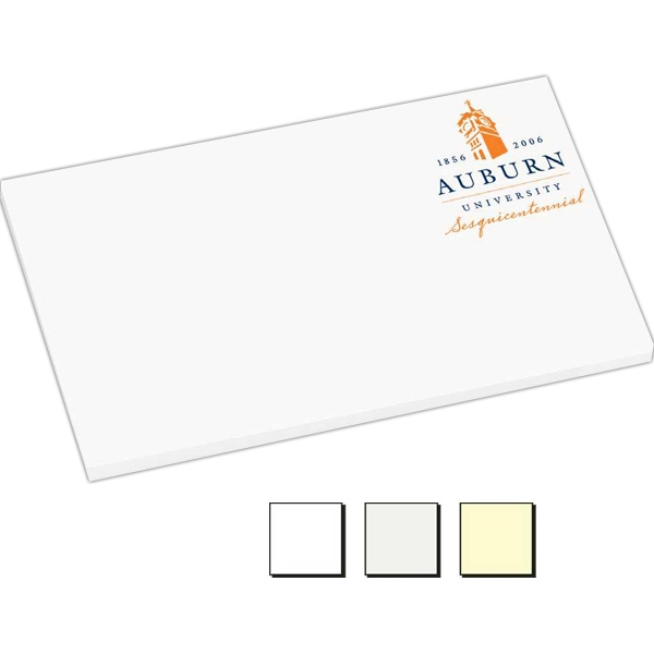 "50 Sheet Count - Earth Friendly 5"" X 3"" Adhesive Notes Available With 100% Recycled Paper Photo"