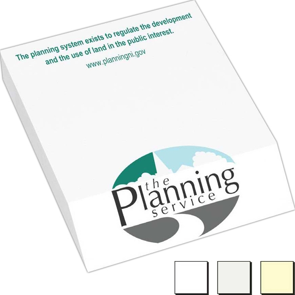 "100 Sheet Count - Earth Friendly 3"" X 4"" Bevel Cut Adhesive Notes Available With 100% Recycled Paper Photo"