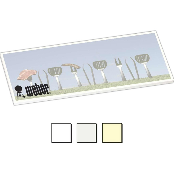 "25 Sheet Count - Earth Friendly 8"" X 3"" Adhesive Notes Available With 100% Recycled Paper Photo"