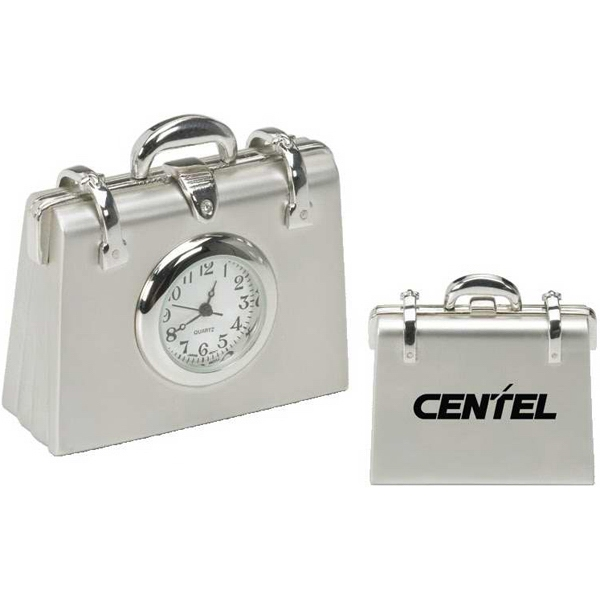 Metal Briefcase Replica Desk Clock Photo