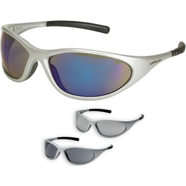 Zone Ii Pyramex (tm) - Safety Glasses With Straight Back Rubber Coated Temple Tips And Silver Frame Photo