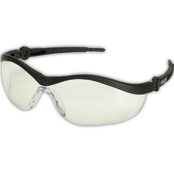 Ratchet Wrap - Wraparound Style Safety Glasses With Black Frames And Clear Lens Photo