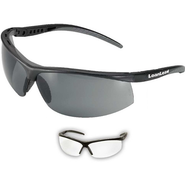 Pacifica - Safety Glasses In Black Frames And Uv Protected Lens Photo