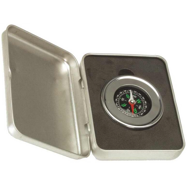 Executive - Executive Compass With In A Silver Case Photo