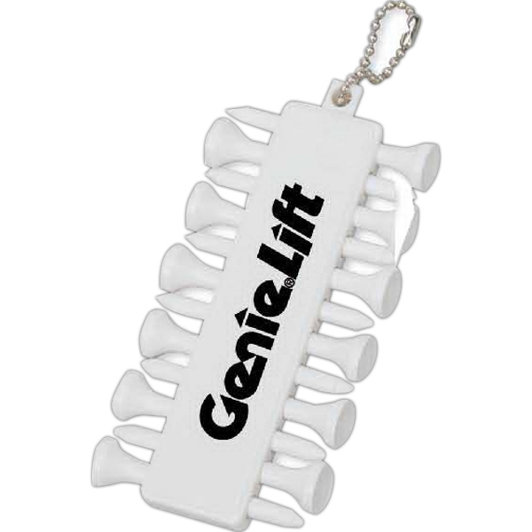 Golf Tee Set Of Tees And Ball Markers With A Handy Chain To Attach To A Golf Bag Photo