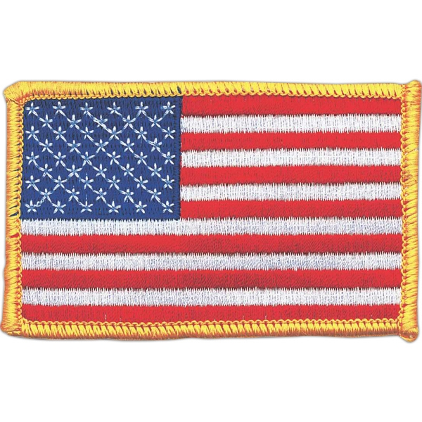 Stock American Flag Embroidered Patch Photo