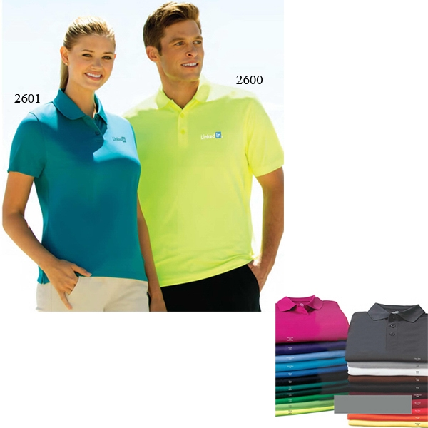 Omega Vansport (tm) - S- X L - Solid Mesh Tech Polo Shirt Photo