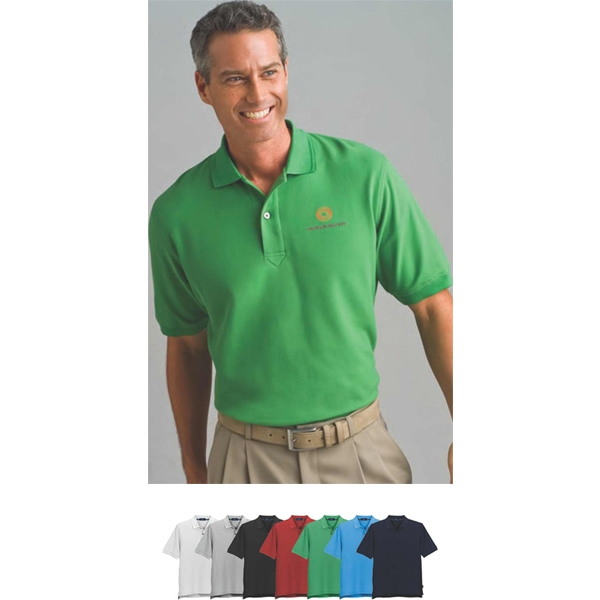 Tournament Vansport (tm) - 2 X L-3 X L - Double Tuck Pique Polo Shirt With Welt Striped Collar Photo