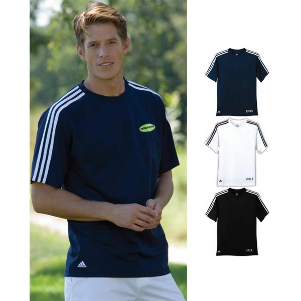 Adidas (r) Climalite(r) - 2 X L-3 X L - Three Stripes Golf Tee Shirt Photo