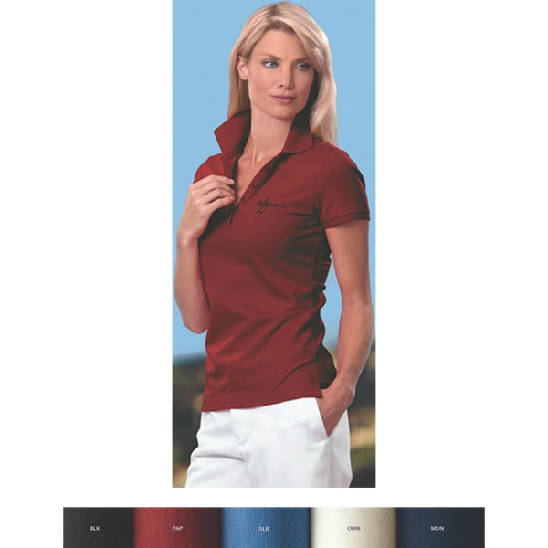 Izod -  X S- X L - Women's Pima Cool Polo Shirt Photo