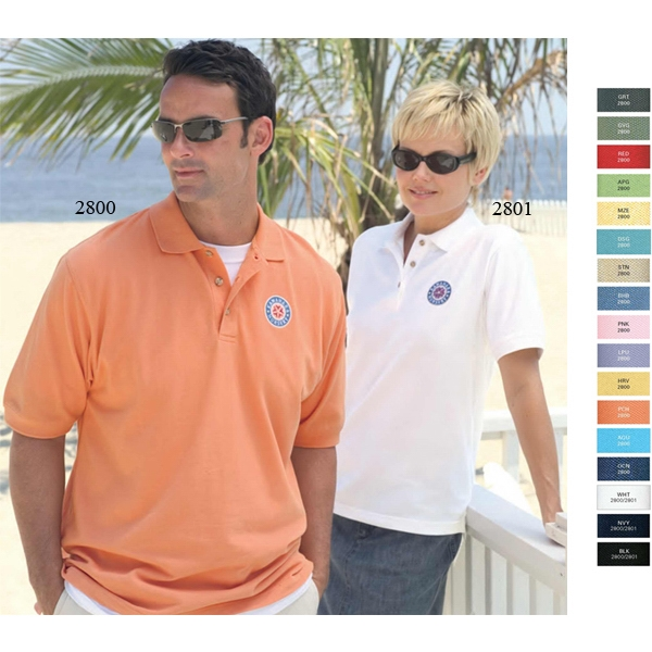 Enterprise -  X S- X L - Women's Pique Polo Shirt Made Of 100% Combed Cotton Photo