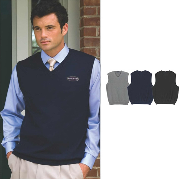 Milano -  X S- X L - Knit Sweater Vest With Ribbed V-neck, Armholes And Waistband Photo