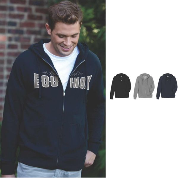 S- X L - Premium Cotton Fleece Full Zip Hoodie Made Of 80% Cotton/20% Polyester Photo