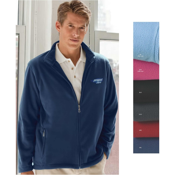 Vantek (tm) - 4 X L-5 X L - Microfiber Full Zip Jacket Made Of 100% Polyester; 5 1/2 Oz Photo