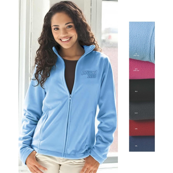 Vantek (tm) - 2 X L-3 X L - Women's Microfiber Full Zip Jacket Photo