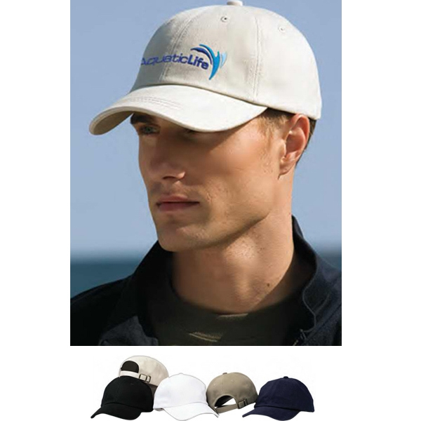Solid Brushed Twill Cap With Low Profile And Adjustable Self-fabric Strap Photo