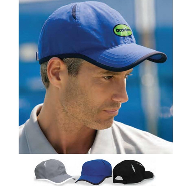 Vansport (tm) - Microfiber Cap With Mesh Insets And Contrasting Self Goods Binding Photo