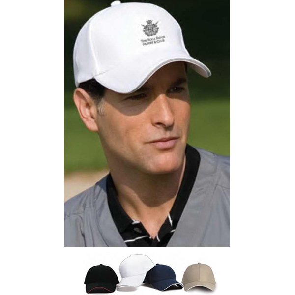 Vansport (tm) - Mesh Constructed Cap With Contrast Sandwich Inset; 100% Polyester Photo