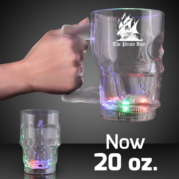 20 oz. Flashing LED Big Skull Mug