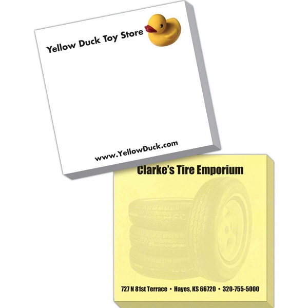 "Triple Spidertac (r) - 25 Standard Sheets, Exact Color Matching For Any 2-3 Pms Colors - 3"" X 3"" Adhesive Sticky Note Pad, White Or Pastel Paper, Exact Spot Color Matching Photo"