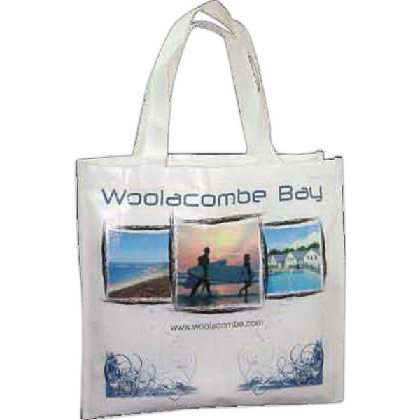 100% recycled nonwoven coated tote
