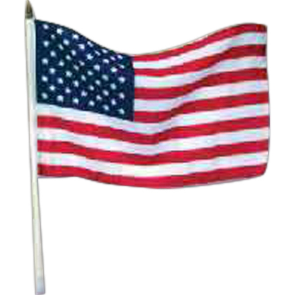"12"" x 18"" USA stick flags"